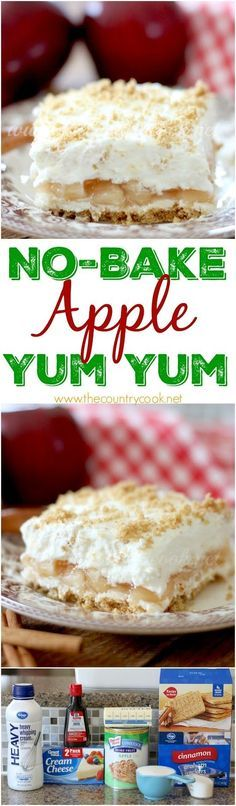 No-Bake Apple Yum Yum dessert recipe from The Country Cook