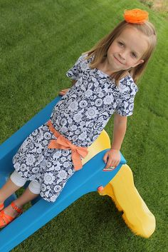 Oliver + S Croquet Dress. Love the colors and prints!