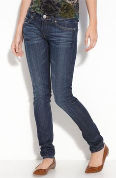These are the best skinny jeans, hands down.  Just the right amount of stretch without feeling like jeggings.