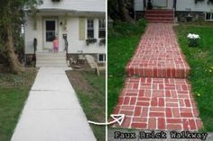 garden-backyard-brick-projects PAINT WALK
