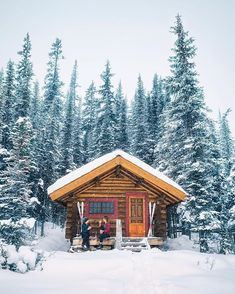 A cozy cabin, fresh snow, and good company I think we all could use more of that combination in our lives – ❄️❄️❄️❄️ with Beth Hewett Yarnall and