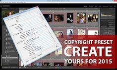 Have You Created Your 2015 Metadata Copyright Preset? | Photofocus