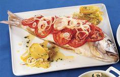 aprende cómo hacer Diente horneado con patatas en este post http://exquisitaitalia.com/diente-horneado-con-patatas/ #recetas #recetasitalianas