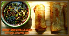 The Weekend Gourmet: Asian Cuisine #SundaySupper...Featuring Shrimp Rangoon Egg Rolls with Honey-Soy Dipping Sauce