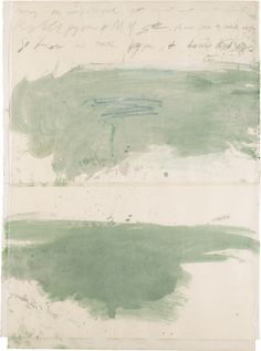 Untitled mixed media by Cy Twombly, American painter of large-scale, graffiti-like art, b.1928