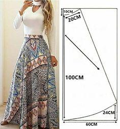 Fashion Sewing, Diy Fashion, Fashion Outfits, Skirt Patterns Sewing, Clothing Patterns, Sewing Clothes, Diy Clothes, Clothing Hacks, Pattern Fashion