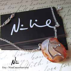 Silver Plated Horse Head Marbled Amber Agate by NinaCancerSurvivor Agate Necklace, Horse Head, Love S, Silver Plate, Amber, Jewelery, Horses, Shoulder Bag, Trending Outfits