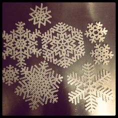 Winter snowflakes hama perler beads by pagey163