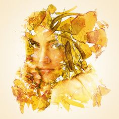 """♪ Double exposure portrait by Alon Avissar. """"Blending people's portraits with plenty of negative space and images of floral and urban landscapes"""" says."""