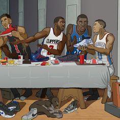 NBA Superstar Last Supper Illustration
