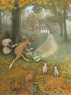 A House in the Woods, written and illustrated by Inga More