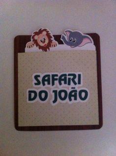 Convite aniversário Safari