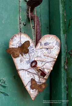 Great idea for a Valentine from Sarah at La-De-Dah I Love Heart, Key To My Heart, Heart Art, Heart Collage, My Funny Valentine, Valentine Day Crafts, Valentine Decorations, Diy And Crafts, Arts And Crafts
