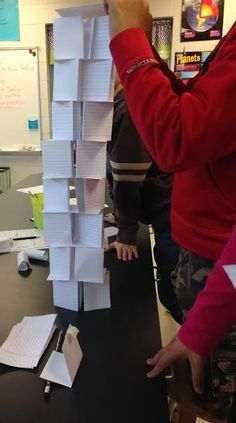 How tall can you build a tower using only index cards?? TERRIFIC STEM challenge! #STEM #Engineering #teacherspayteachers