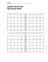 Double Ten-Frame Recording Sheet