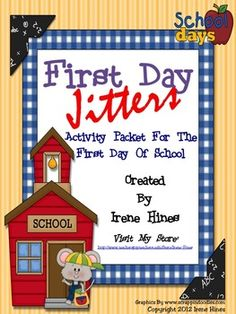 """BEST SELLER! { Top 100 On TpT }   NOW EXPANDED TO 46 PAGES!  Back-To-School Packet for the first week of school that correlates with the book """"First Day Jitters."""" ~Class Discussion Questions & Ideas ~Vocabulary Words, Definition List, Practice, Graphic Organizers & Printables ~Making Connections ~Character Webs ~Reading Comprehension  ~Writing Activities  ~Double Match Games ~ABC Order Activities ~Venn Diagram ~Story Maps ~Word search ~Anchor Charts"""