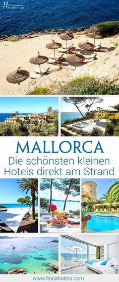 Du möchstest auf Mallorca Urlaub machen und suchst ein kleines Hotel direkt am Strand - bitte keine Bettenburg, sondern ein kleines, charmantes Urlaubsdomizil? Dann sieh dir unsere TOP-Strandhotels für entspannten Badeurlaub auf Mallorca an! #urlaub #mallorca #strandhotel #urlaubammeer #kleineshotelamstrand #travel