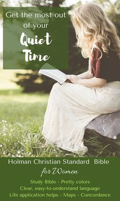 The Holman Study Bible is a standard for serious Bible study.  This edition, published with women in mind, comes in feminine colors and includes articles relating to Biblical womanhood.  It includes notes by respected female biblical teachers as well.  #HolmanStudyBible #Christian #ad #Christiandevotions #quiettime #Bible #timewithGod