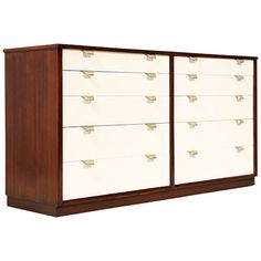 """Edward J. Wormley """"Precedent"""" Two Tone Lacquer Dresser for Drexel 