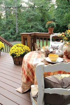 Savvy Southern Style: A Fall Table For Two Alfresco