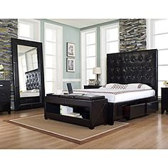 @Overstock - This Malibu-X storage bed is handcrafted and assembled with a button-tufted headboard and hand-stitched square detailing. This bed comes in a rich chocolate color with four drawers underneath for storage.http://www.overstock.com/Home-Garden/Malibu-X-Chocolate-Bonded-Leather-Queen-size-Storage-Bed/6477577/product.html?CID=214117 $1,099.99