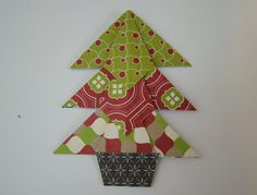 Tea Bag Folded Christmas Tree Tutorial