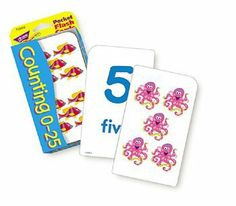 Pocket Flash Cards 56-Pk 3 X 5 Counting 0-25 Two-Sided Cards -- Case of 11 . $34.87. Pocket Flash Cards 56-Pk 3 X 5 Counting 0-25 Two-Sided Cards by TREND ENTERPRISES INC.
