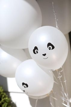 Items similar to Party Like a Panda- Balloons on Etsy Gender Reveal Party Decorations, Birthday Party Decorations, Baby Shower Decorations, Baby Shower Favors, Panda Birthday Party, Panda Party, 10th Birthday Parties, Panda Baby Showers, Panda Craft