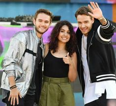 Liam with Zedd and Alessia Cara on Good Morning America 7-21-17