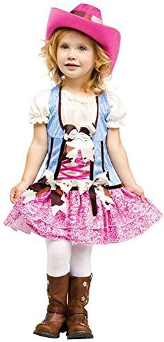 Fun World Costumes Baby Girls Rodeo Sweetie Toddler Costume Pink Blue Large Western For Kids Are Rootin Tootin Little Play Time