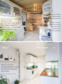 Küche Renovieren   Neue Fronten, Neue Aufstellung / Anordnung Einiger  Elemente, Innenauszüge Nachträglich Ergänzt