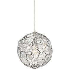 "Possini Euro Persis 13 3/4"" Wide Crystal Sphere Pendant - #8G367 | Lamps Plus"