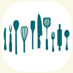Kitchen utensils Art Print