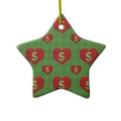 Love for Money Pattern Christmas Ornament  finance, ambition, pattern, dollar, love, hearts, wealthy, fortune, gambling, money, background, beauty, decorative, design, dreamy, grunge, heart, happiness, illustration, inspired, mosaic, organic, paper, romance, spiritual, textile, texture, uniqueness, vibrant, wallpaper, fabric, goal, concept, sign, richness, casino, risk