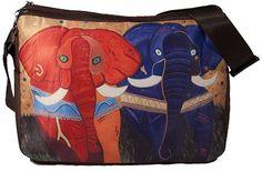 Elephants Large Messenger Bag by Salvador by SalvadorKitti on Etsy, $38.98