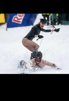 What happened to normal mountain skiing, on skis or a snowboard? Clearly too normal for these extraordinaire people. Kinky!...