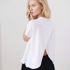 Say hello to our white T-shirt :) now available @shwrm #tshirt #basic #beauty #white #simple #ootd #instacool #fashion #love #polishgirl #newbrand #backless #mood