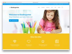 The best kindergarten WordPress themes for building cute, adorable, yet professionally looking, websites that spark everyone's interest. Welcome To Kindergarten, Nanny Agencies, Video Games For Kids, Quotes For Students, Training Center, Elementary Education, Education Quotes, Educational Technology, Primary School