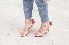 Patterns and Pom poms | Heels