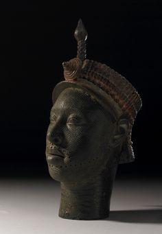 Brass/bronze head of an Ife King; 12th to 14th Century Nigeria [3064x5124]
