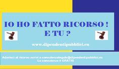 RICORSO PER LA TRATTENUTA DEL 2,5% SULLA RETRIBUZIONE MENSILE DEI DIPENDENTI PUBBLICI E STATALI.