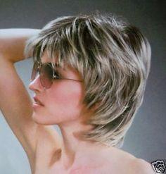 Fashion short Silver Grey wig Kanekalon Fiber Hair wigs