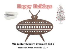 Mid Century Modern Ornament 8386 by FredArndtArtworks on Etsy, $14.95