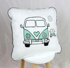 Pillow Baby Bedding Pillows Decorative Pillow Bed Pillows Mint White Bus Camper…