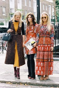 Three gorgeous (and absolutely lovely) ladies: Candice Lake,Hedvig Opshaug ofNorthern LightandStylistMartha Ward, after A Show, London, September 2015. Recreate Martha's look (kind of): 70's sty