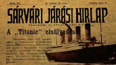 Egy sárvári hír: A Titanic elsüllyedt Titanic, Character, Hungary, Lettering