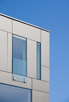 Villa by DRP Baukunst. Window detail. Windows integrated with EQUITONE facade panels. www.equitone.com