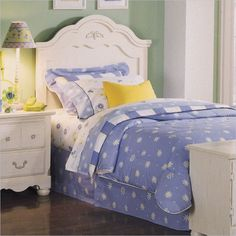 Standard Diana  White Wash Panel Headboard: Love this headboard! Romantic without being flimsy!
