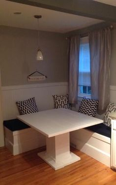 Custom Breakfast Nook with Storage | Do It Yourself Home Projects from Ana White