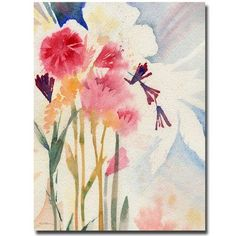Trademark Art 'Garden Shadows' by Sheila Golden Framed Painting Print on Wrapped Canvas Size: